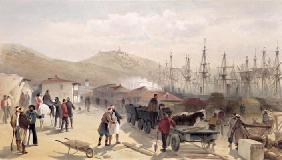 The Railway at Balaklava, plate from 'The Seat of War in the East', 1856 (colour litho)