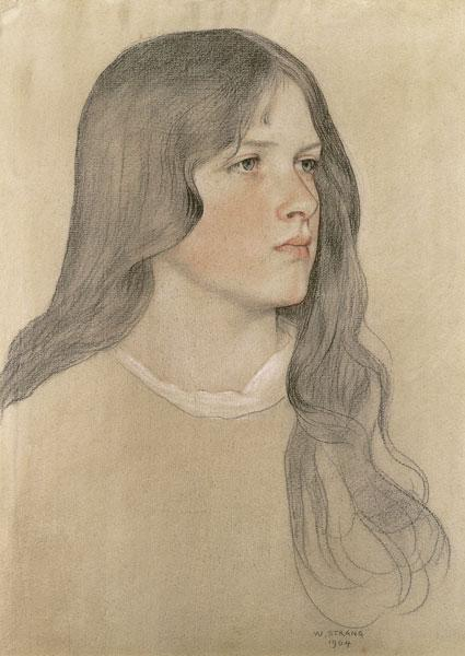 Strang, William : Portrait of a Girl