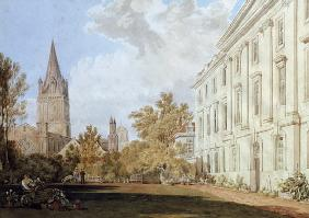 View of Christ Church Cathedral and the Garden and Fellows' Building of Corpus Christi College, Oxfo