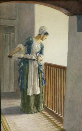The Laundry Maid, c.1920 (w/c on paper)