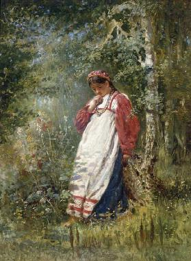 Young Girl in the Wood